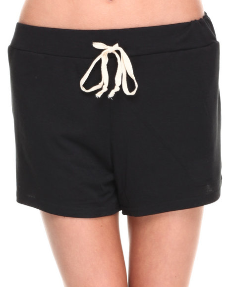 Fashion Lab - Women Black Soft Blended Drawstring Short