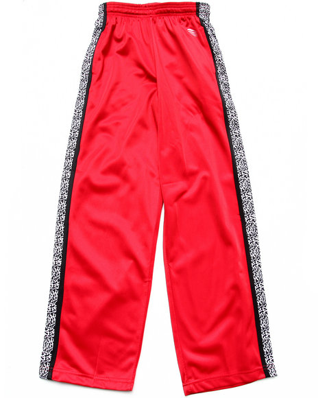 Arcade Styles - Boys Red Elephant Print Tricot Track Pants (8-20)