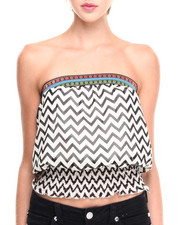 Tops - Chevron Smocked Tube Top
