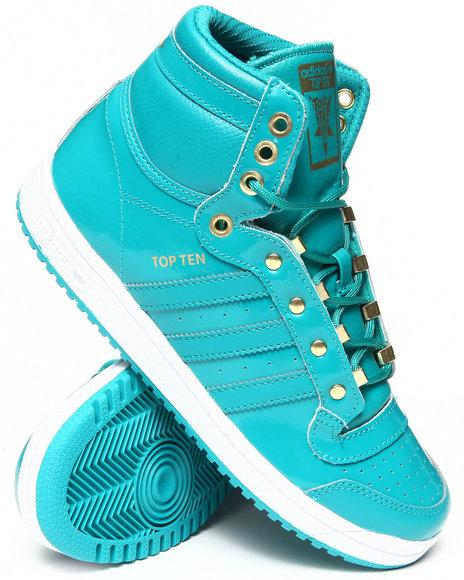 Adidas Boys Green Top Ten Miami J Sneakers