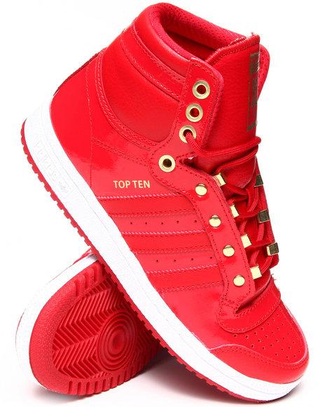 Adidas Boys Red Top Ten Detroit J Sneakers