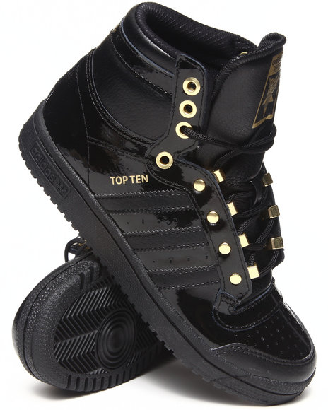 Adidas Boys Black Top Ten New York J Sneakers