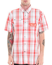 Pelle Pelle - S/S Plaid Motor Button Down shirt