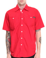 Shirts - Glory Solid Short Sleeve Button Down Shirt