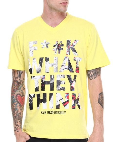 Syn Jeans Yellow F*#K T-Shirt