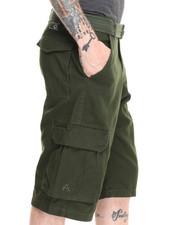 Akademiks - Camper twill Belted cargo shorts