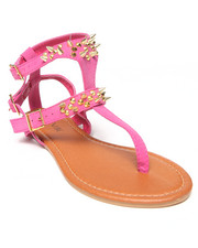 Women - Jacky Double Strap Flat Sandal w/Gold Detail
