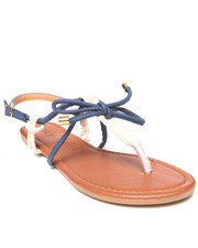 Fashion Lab - Grace Contrast Flat Sandal w/Bow