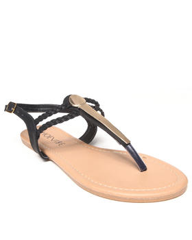 Fashion Lab - Miranda Sandal w/ Gold Plate Detail