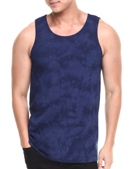 Volcom - Men Blue Crystal Wash Tank