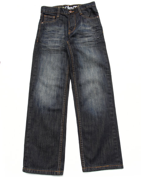 Akademiks Boys Dark Wash Fanback Signature Jeans(8-20)