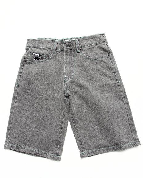 TRUKFIT Boys Grey Lil' Tommy Denim Shorts (8-20)