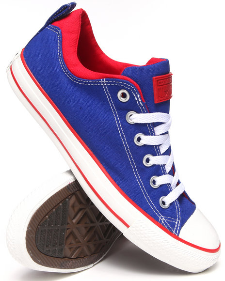 Converse - Men Blue Color Plus Chuck Taylor All Star Dual Collar Ox Sneakers