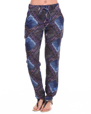 Fashion Lab - Abstract Diamond Print Chalis Pant