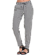 Fashion Lab - Chekered Printed Chalis Pant