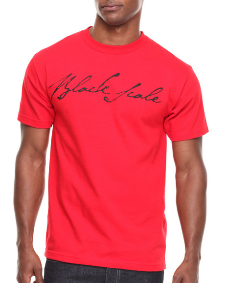 BLVCK SCVLE Red Signature Logo Tee