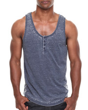 Buyers Picks - Burnout Henley Tank Top