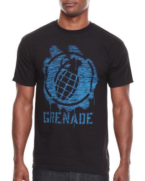 Grenade Black Stencil Bomb Tee