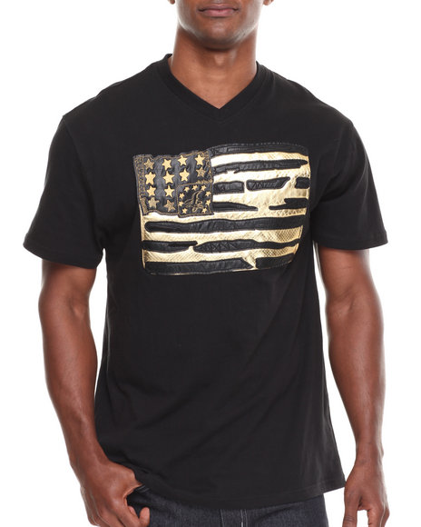 Winchester Black Real American V-Neck S/S Tee