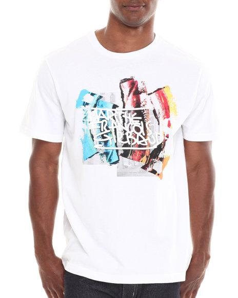 Girbaud White Stroke De-Peint T-Shirt