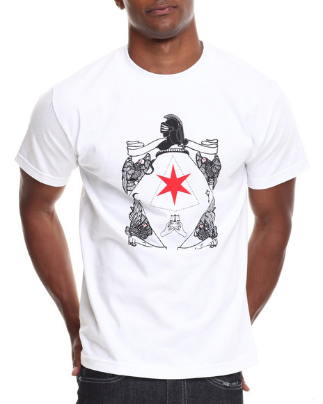 Blvck Scvle - Men White Six Pointed Knight Tee