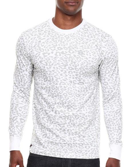 Enyce - Men White Leopard Crew Neck