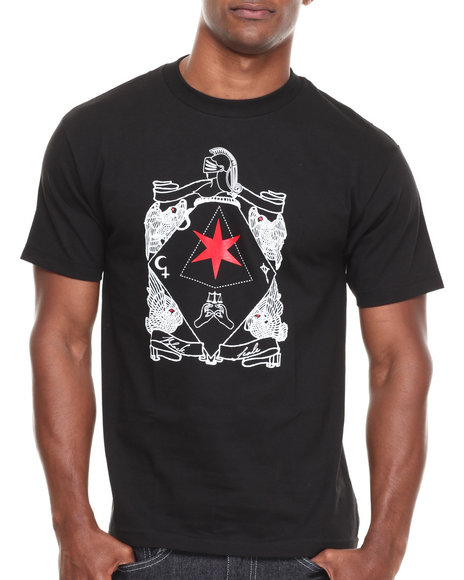 BLVCK SCVLE Black Six Pointed Knight Tee