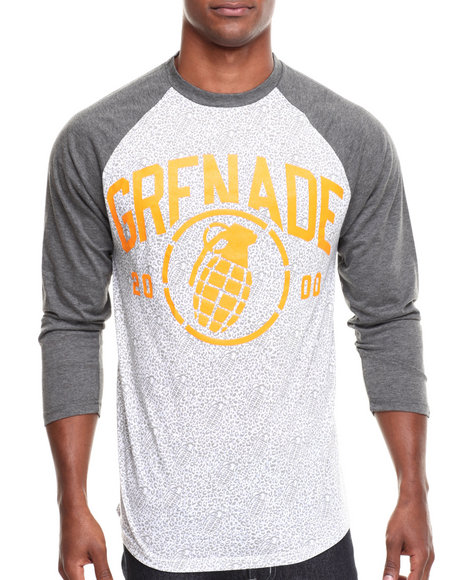 Grenade - Men Grey,White 2000 Raglan Tee