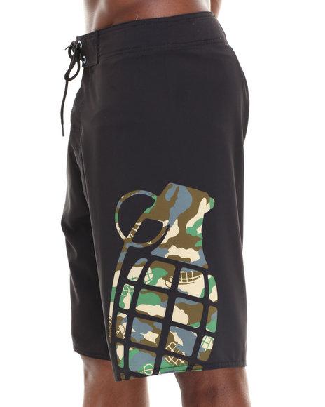 Grenade Black Camo Whamo Board Shorts