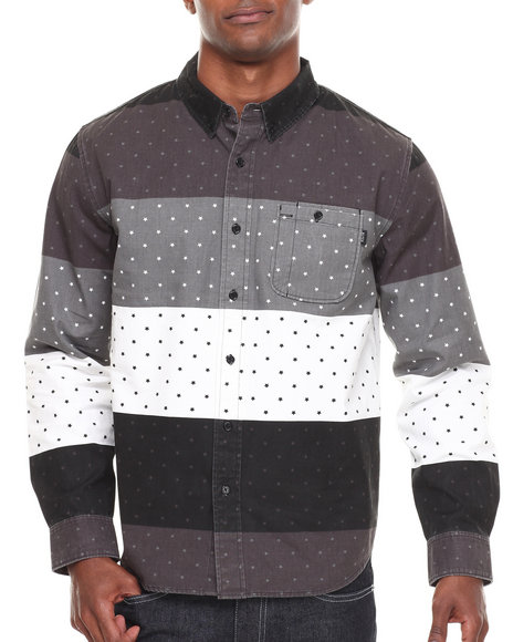 Blvck Scvle - Men Black Periera Printed Poplin L/S Button-Down
