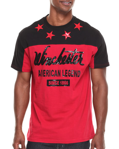Winchester - Men Black,Red Winchester All Stars S/S Tee