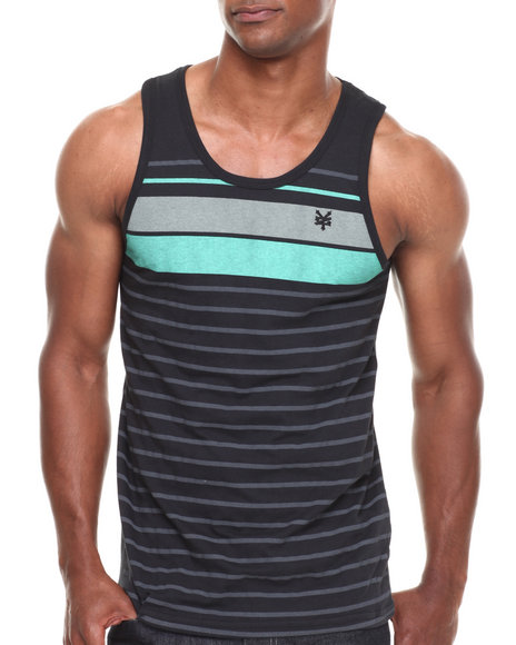 Zoo York - Men Black Twin Lights Striped Tank