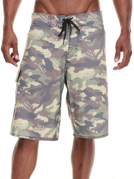 Grenade Camo Camo Bomb Board Shorts