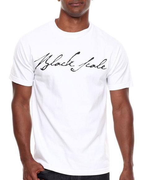 BLVCK SCVLE White Signature Logo Tee
