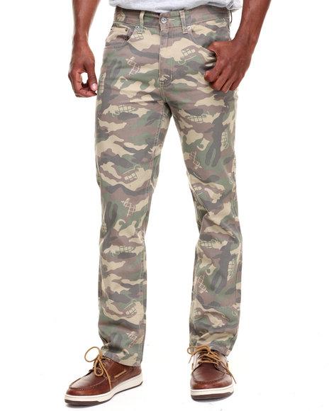 Grenade - Men Camo Mcqueen Skinny Straight Fit Denim Jeans