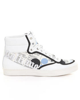 John Galliano - J.G Newsprint Embroid. Hightop