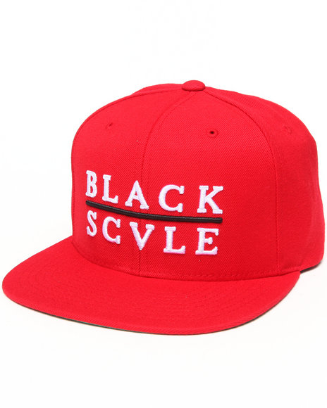 Blvck Scvle Men Red Line Snapback Cap Red - $32.99