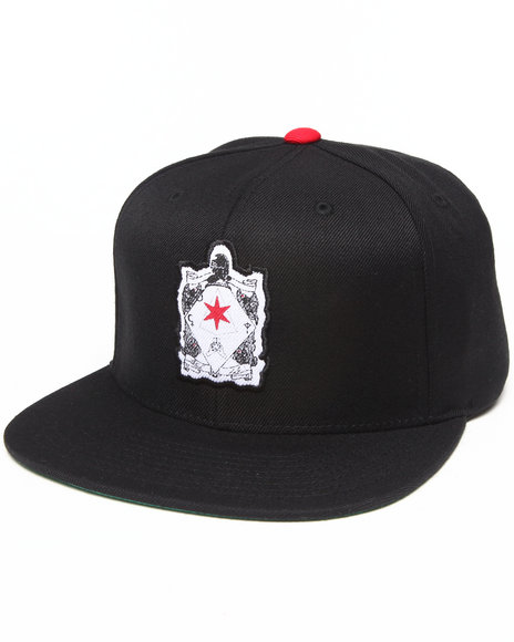Blvck Scvle Six Pointed Knight Snapback Cap Black
