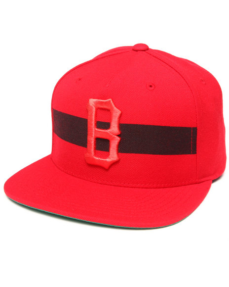 Blvck Scvle Men Streak Strapback Cap Red - $33.99