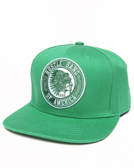 Hustle Gang Men Overdrive Snapback Cap Green