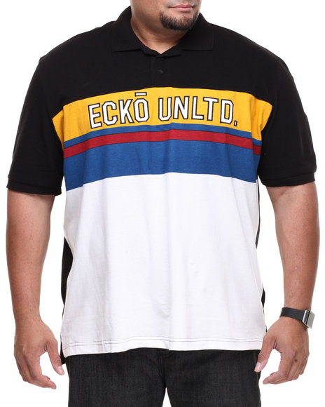Ecko - Men Black Throw Back Polo (B&T)