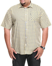 Men - Old Gold Plaid S/S Button-Down (B&T)