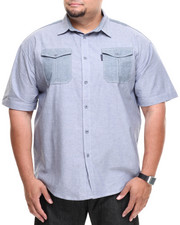 Ecko - Pieced Chambray S/S Button-Down (B&T)