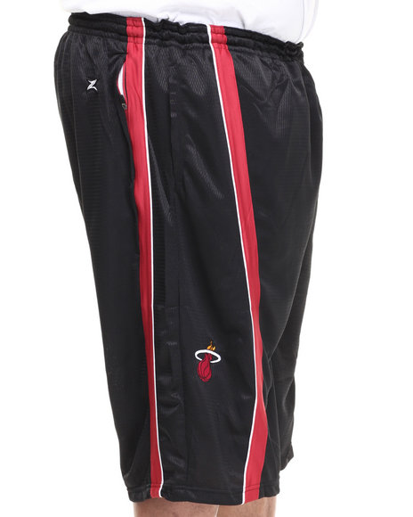 Nba, Mlb, Nfl Gear - Men Black Miami Heat Varsity Short (B&T)