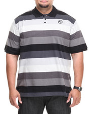 Ecko - Striped Tone on Tone S/S Polo (B&T)
