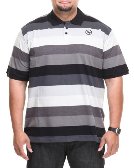 Ecko - Men Black Striped Tone On Tone S/S Polo (B&T)