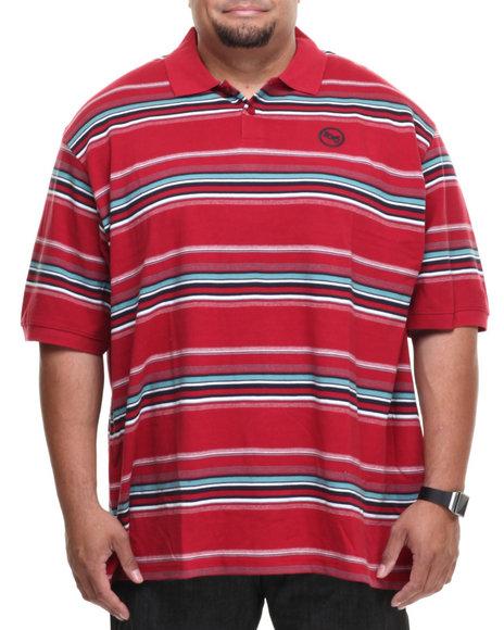 Ecko Red Checkstripe S/S Polo (Big & Tall)