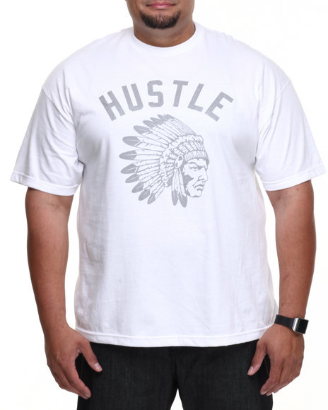 Hustle Gang - Men White The Cook Reflect Tee