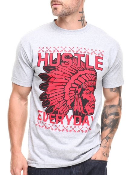 Hustle Gang Grey Hustle Everyday Tee