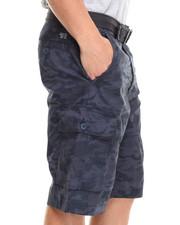 Men - Belted Camo Cargo Short